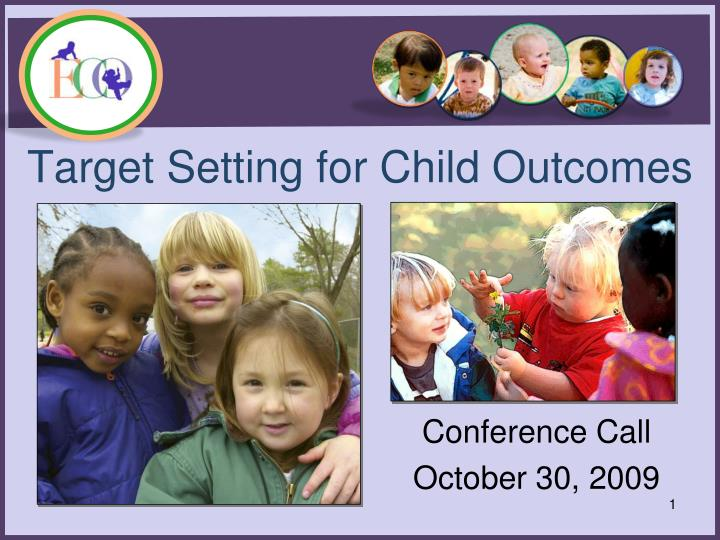 Target Setting for Child Outcomes