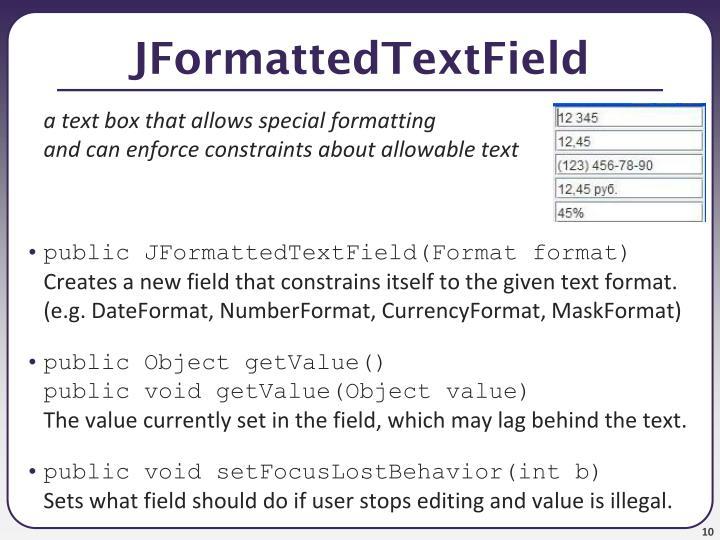 JFormattedTextField