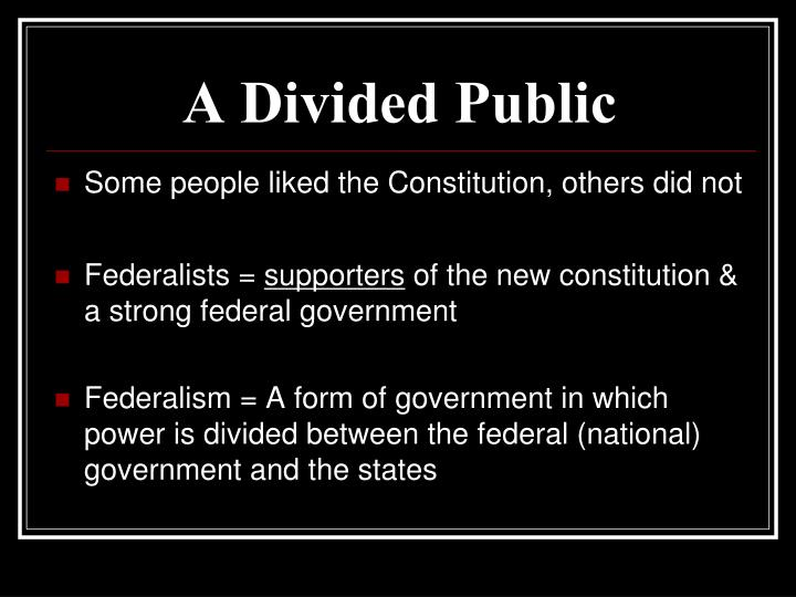 A Divided Public