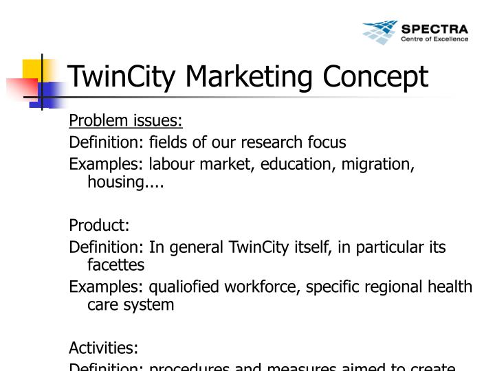TwinCity Marketing Concept