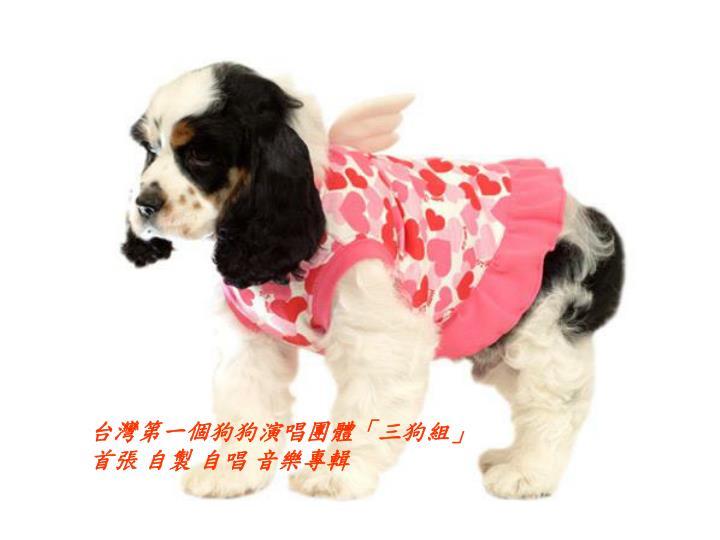 台灣第一個狗狗演唱團體「三狗組」