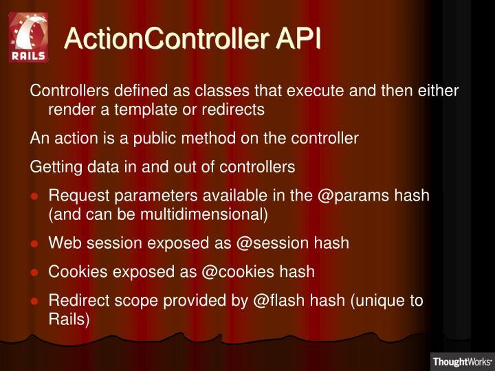 ActionController API