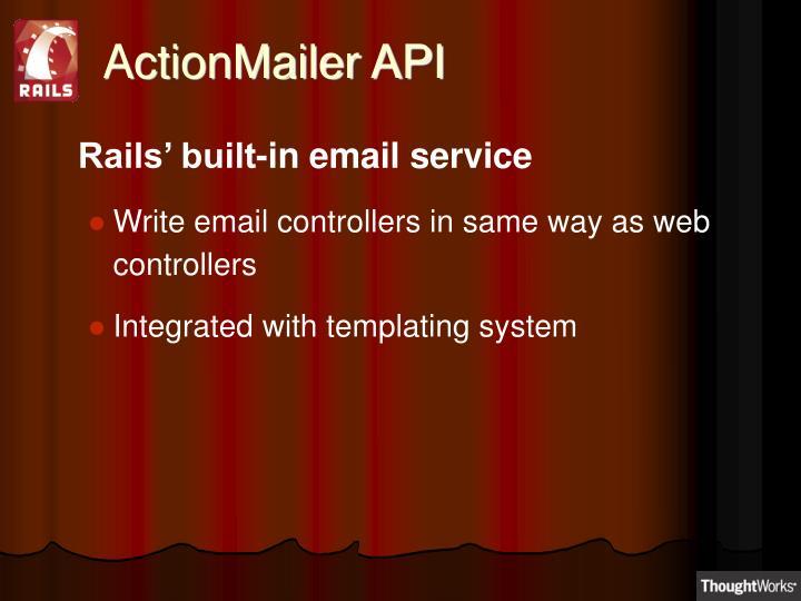 ActionMailer API