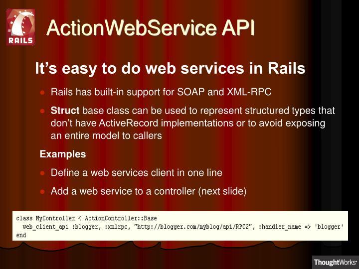ActionWebService API
