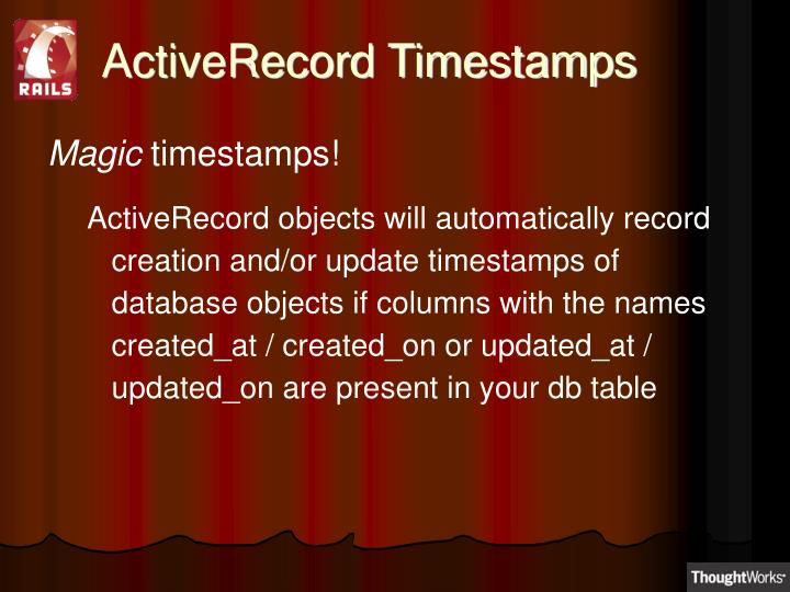 ActiveRecord Timestamps