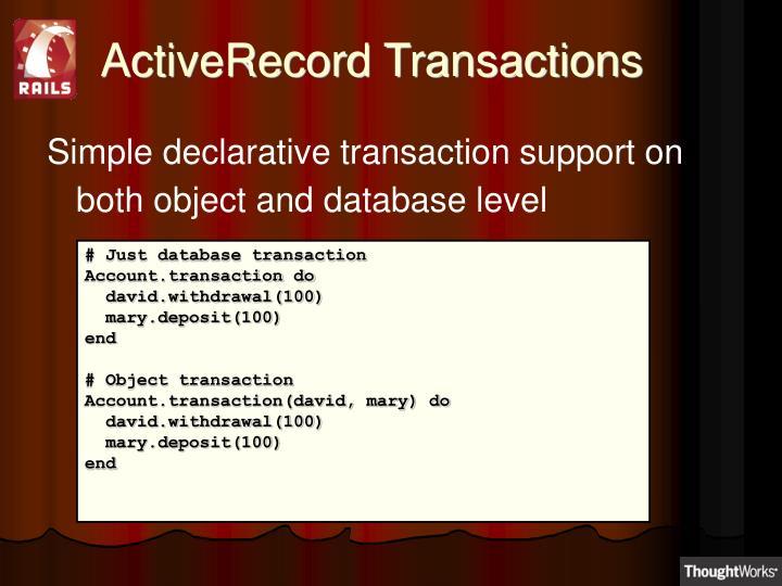 ActiveRecord Transactions
