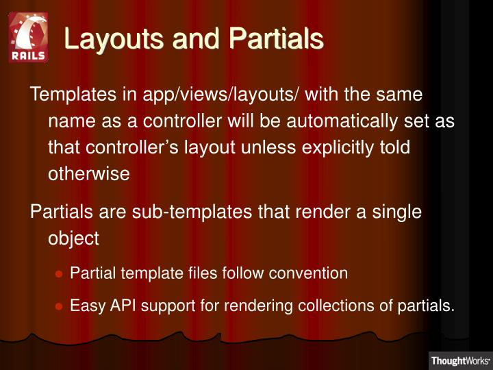 Layouts and Partials