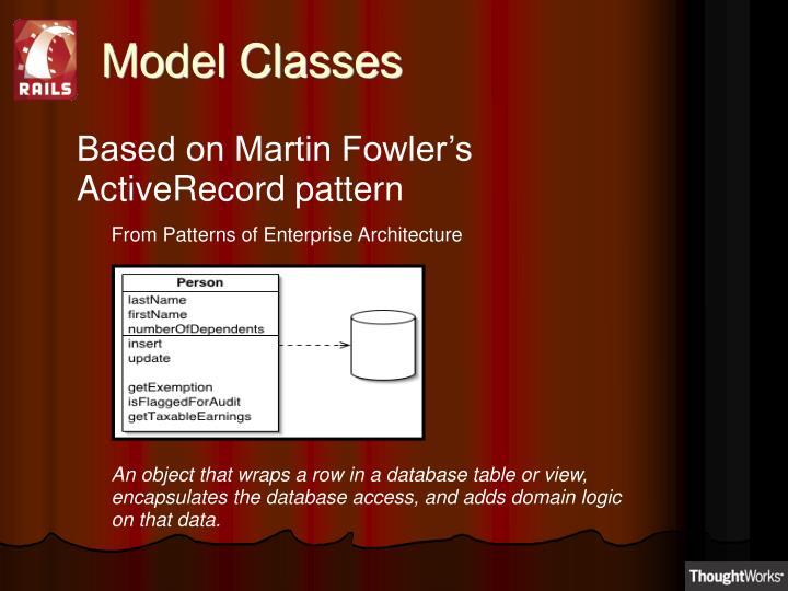 Model Classes