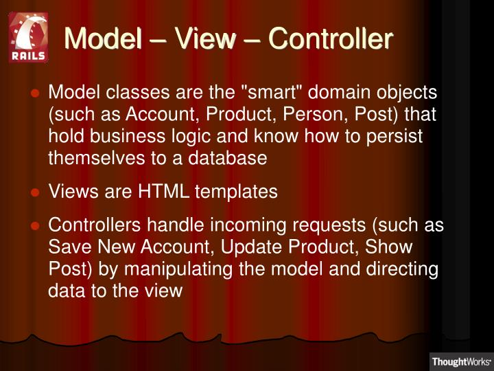 Model – View – Controller