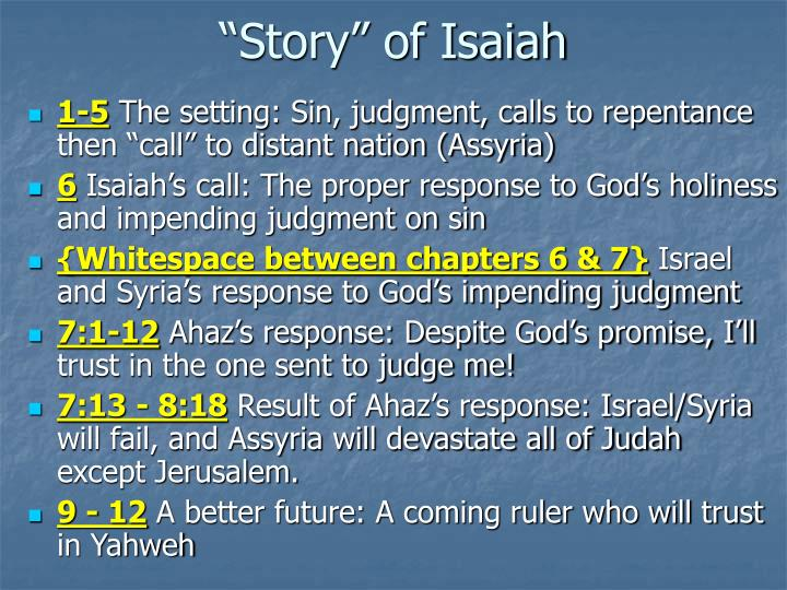 """Story"" of Isaiah"