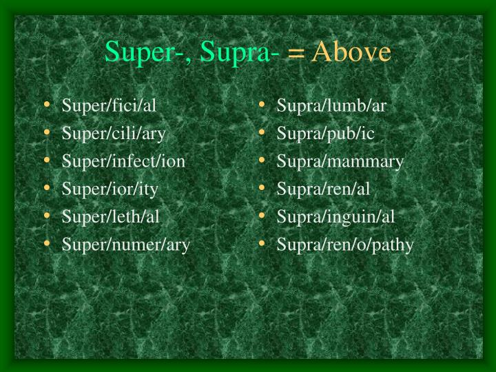 Super/fici/al