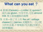 what can you eat1