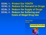 goal 2 reduce the demand for drugs