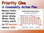 priority one a community action plan