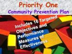 priority one community prevention plan1