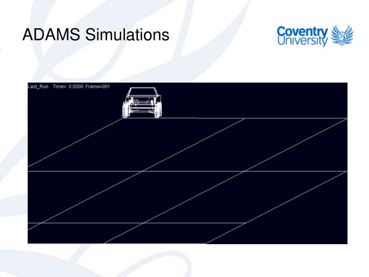 ADAMS Simulations