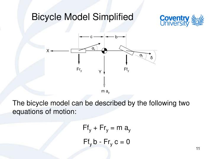 Bicycle Model Simplified