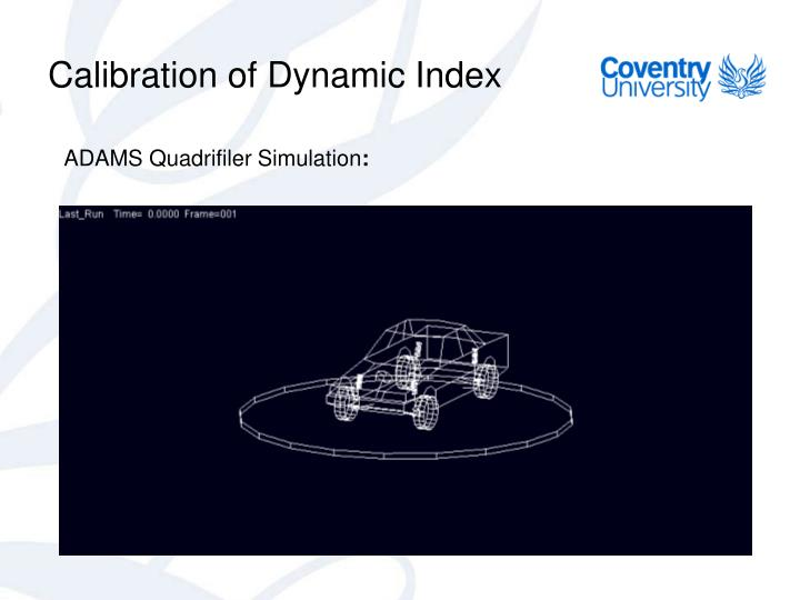 Calibration of Dynamic Index
