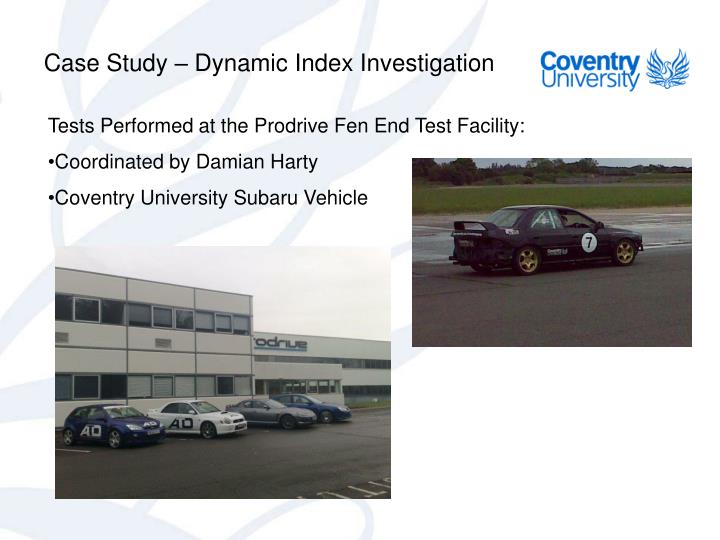 Case Study – Dynamic Index Investigation