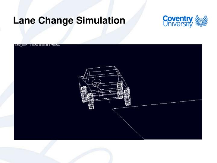 Lane Change Simulation