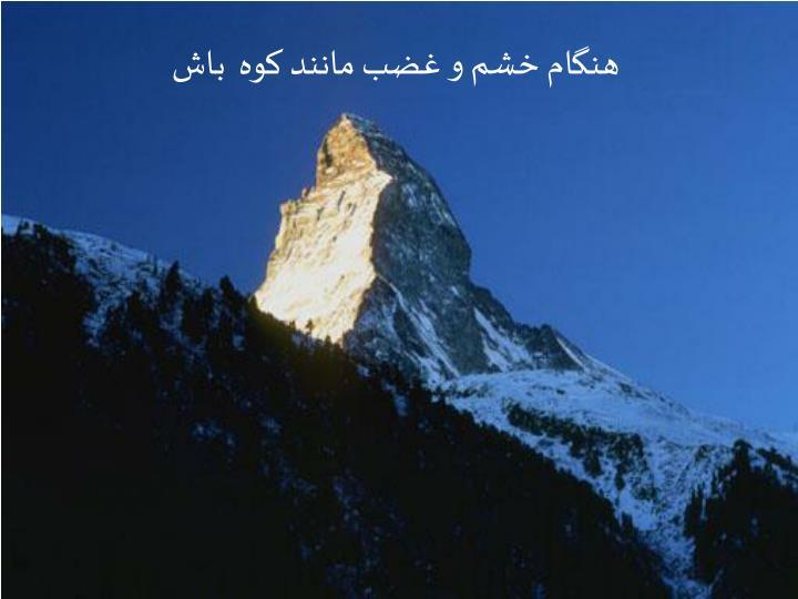 هنگام خشم و غضب مانند کوه  باش