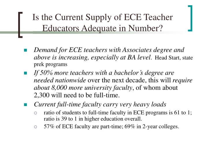 Is the Current Supply of ECE Teacher Educators Adequate in Number?