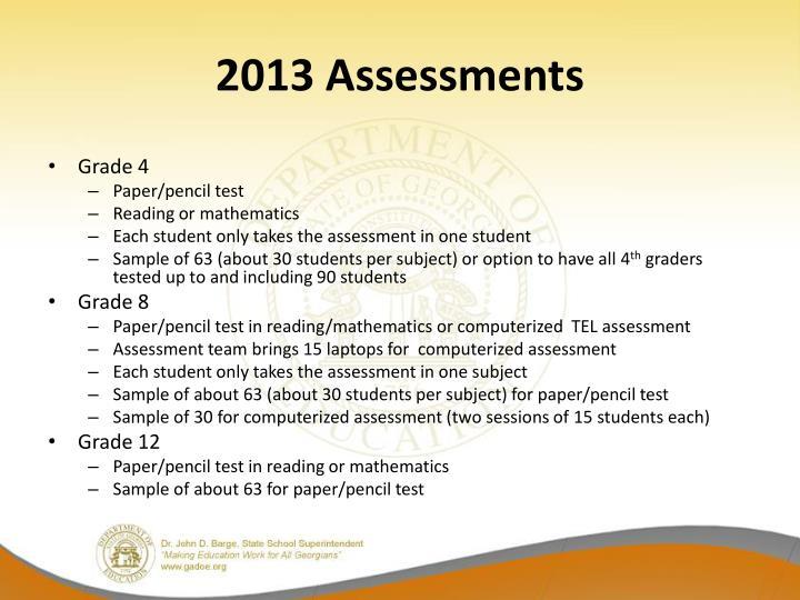 2013 Assessments