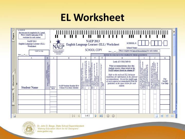 EL Worksheet