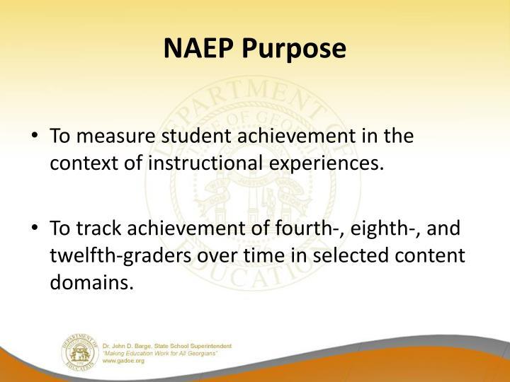 NAEP Purpose