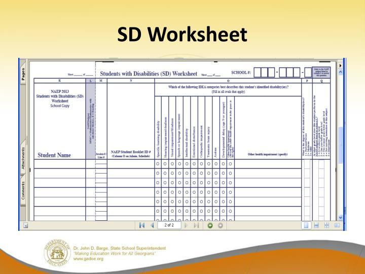 SD Worksheet