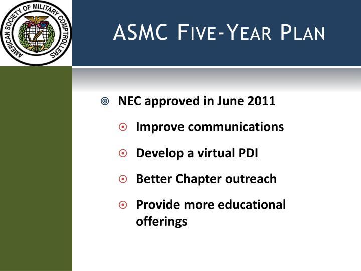 ASMC Five-Year Plan