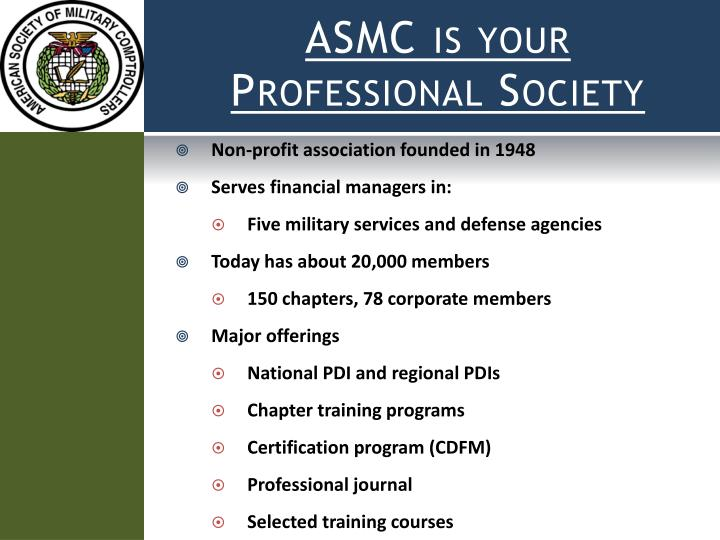 ASMC is your Professional Society