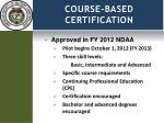 course based certification