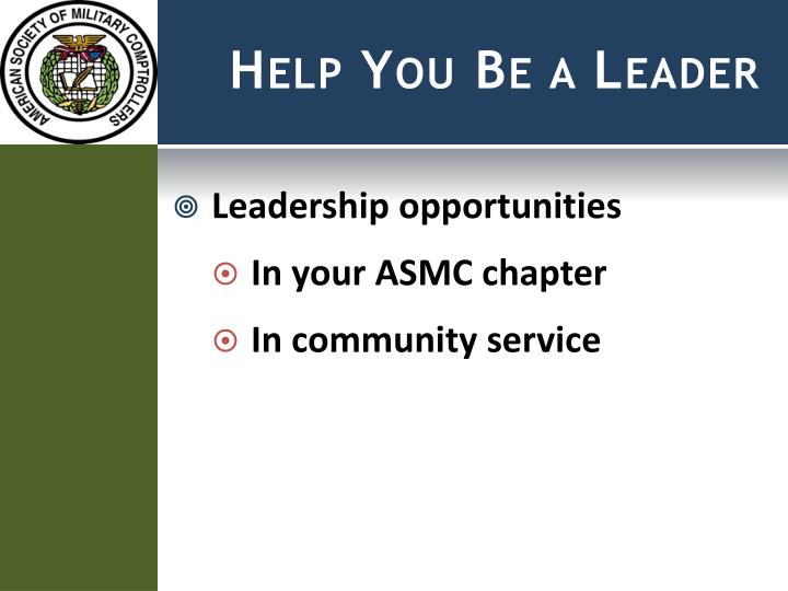Help You Be a Leader