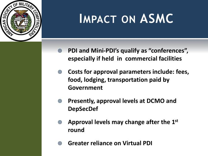 Impact on ASMC