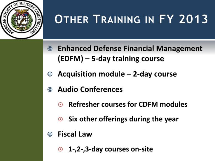 Other Training in FY 2013