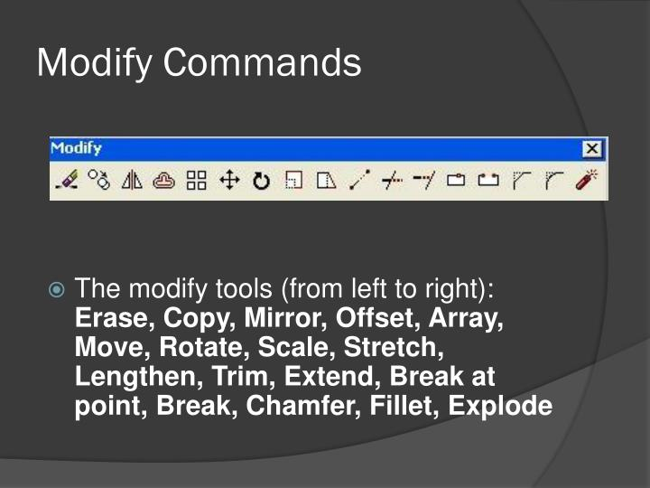 Modify Commands