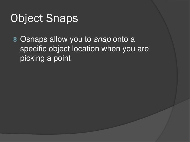 Object Snaps
