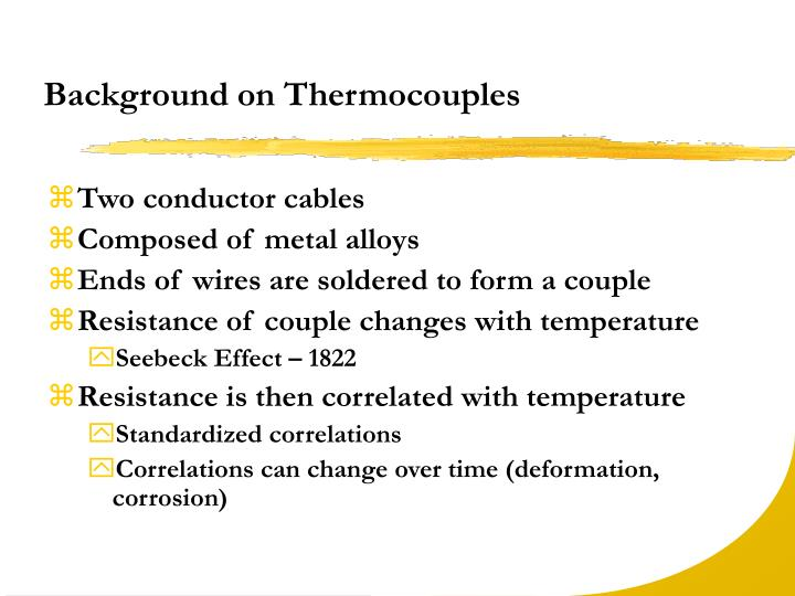 Background on Thermocouples