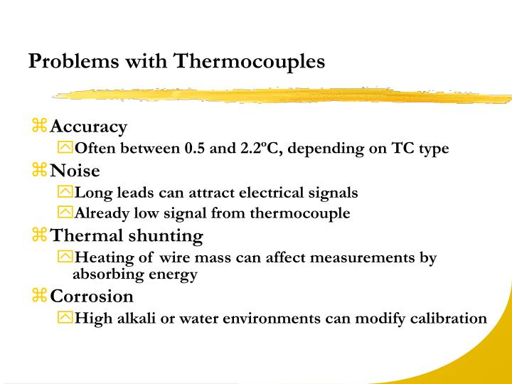 Problems with Thermocouples