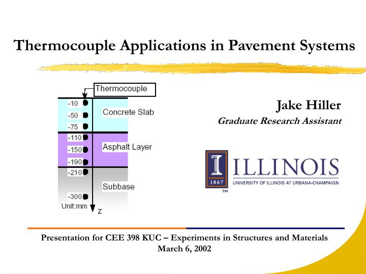Thermocouple Applications in Pavement Systems