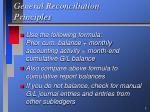 general reconciliation principles