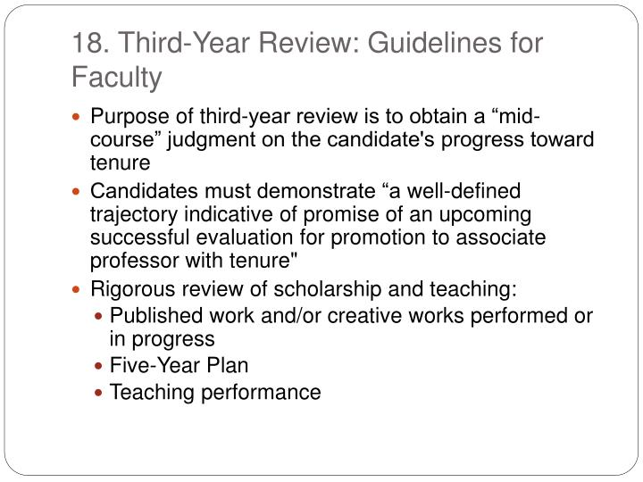 18. Third-Year Review: Guidelines for Faculty