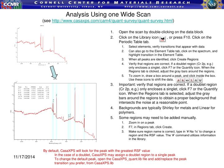 Analysis Using one Wide Scan