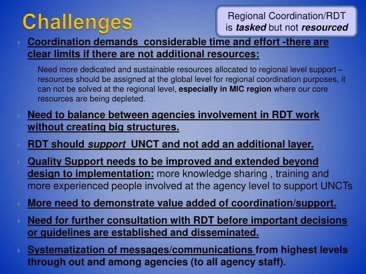 Regional Coordination/RDT