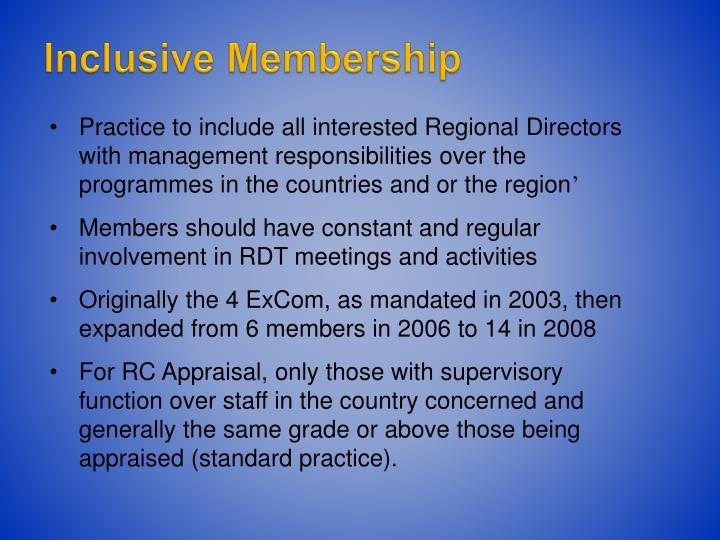 Inclusive Membership