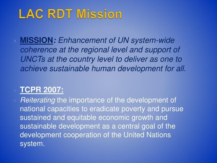 LAC RDT Mission
