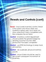 threats and controls cont
