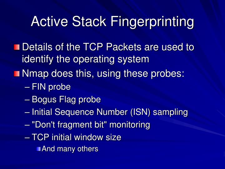 Active Stack Fingerprinting