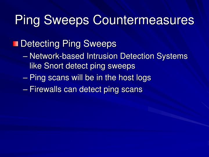 Ping Sweeps Countermeasures